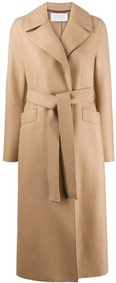 Harris Wharf London Tie-Waist Wool Trench Coat