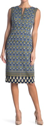 Maggy London Placement Print Sheath Dress