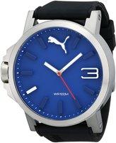 Puma Men's PU103461014 Ultrasize 50 Silver Blue Analog Display Japanese Quartz Watch