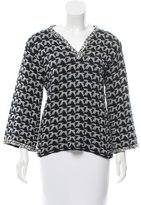Chanel Patterned V-Neck Top