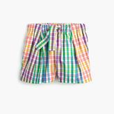 J.Crew Girls' tie-waist pull-on short in rainbow check