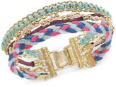 INC International Concepts I.N.C. Gold-Tone Cotton Thread Multi-Row Bracelet, Created for Macy's