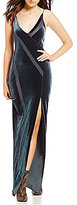 Free People Spliced Velvet Maxi Dress