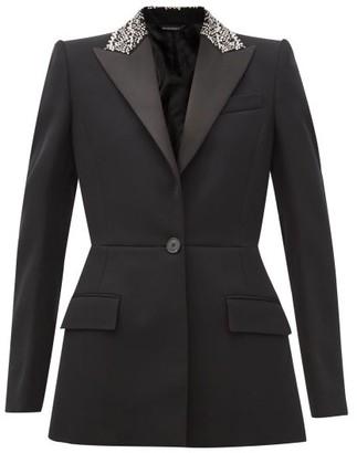 Givenchy Crystal-embellished Wool-barathea Suit Jacket - Black