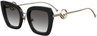 Fendi Butterfly Acetate & Metal Sunglasses
