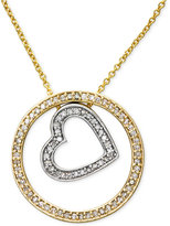 Effy Duo by Diamond Pendant Necklace (1/3 ct. t.w.) in 14k Gold and White Gold