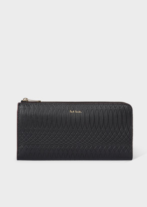 Paul Smith No.9 - Large Black Leather Zip-Around Wallet