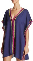 Becca by Rebecca Virtue Scenic Route Crochet Trim Tunic Swim Cover-Up