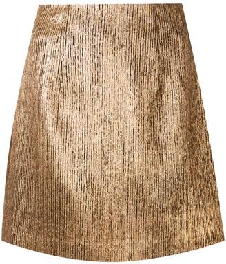 Ginger & Smart Metallic Mini Skirt