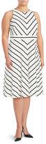 Eliza J Plus Striped Sleeveless Dress