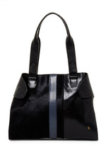 Elliott Lucca Gisele Leather and Suede Satchel