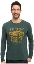 Life is Good Ride On Motorcycle Long Sleeve Crusher Tee