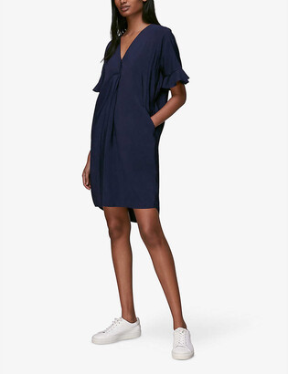 Whistles Alba V-neck crepe mini dress