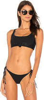 Frankie's Bikinis Frankies Bikinis Greer Top in Black. - size L (also in M,S,XS)
