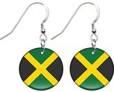 Body Candy Jamaica Flag Earrings