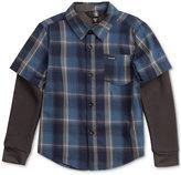 Volcom Hayes Plaid Cotton Shirt, Toddler & Little Boys (2T-7)