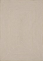 Loloi Rugs INOUIO-01BE003656 3 ft. 6 in. x 5 ft. 6 in. In Out Rectangular Shape Hand Braided Area Rug, Beige