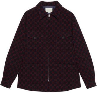 Gucci GG wool zip-up shirt