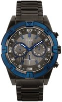 GUESS Blue and Gunmetal-Tone Bold Masculine Watch