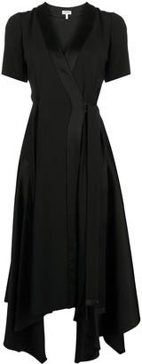 Loewe Asymmetric Wrap Midi Dress