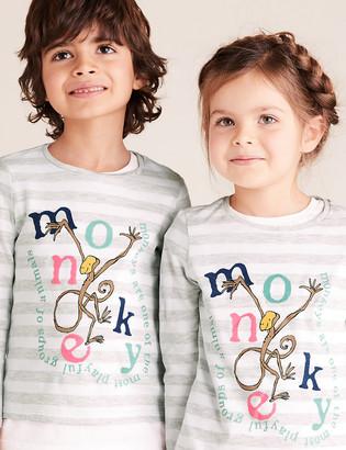 Marks and Spencer Roald Dahl & NHM Monkey Top (2-7 Yrs)