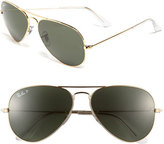 Ray-Ban Women's 'Original Aviator' 58Mm Polarized Sunglasses - Black