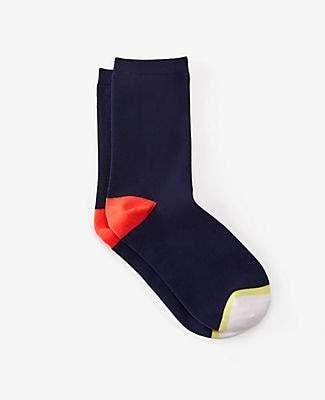 Ann Taylor Colorblock Trouser Socks
