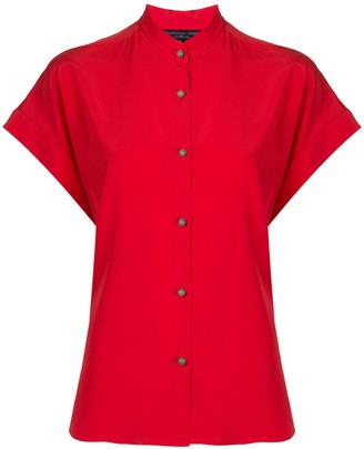 Shanghai Tang Jewel Button Silk Blouse