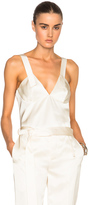 Calvin Klein Collection Gerrie Tank Top in Neutrals.