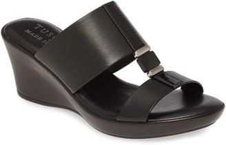 TUSCANY by Easy Street Benita Wedge Slide Sandal