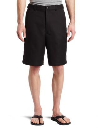 Haggar Men's Big-Tall Cool 18 Gabardine Hidden Expandable Waist Plain Short Black 56