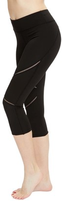 S2 Sportswear Women's Leggings Black - Black Dual Stripe Capri Leggings - Women