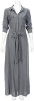 L'Agence Cameron Chambray Maxi Shirt Dress