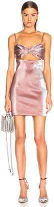 Area Bra Lame Dress in Rose | FWRD