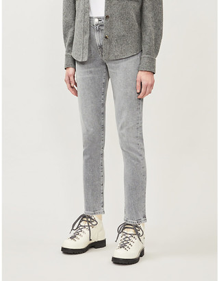 AGOLDE Toni straight faded mid-rise jeans