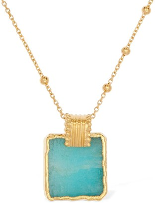 Missoma Lena Amazonite Charm Long Necklace