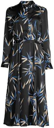 Equipment Sabenne Palm Print Maxi Shirtdress