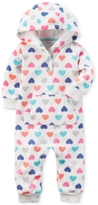 Carter's Hooded Hearts-Print Coverall, Baby Girls (0-24 months)