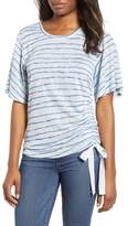 Wit & Wisdom Ruched Side Ribbon Tee