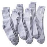 Fruit of the Loom Men's ; Workgear 6Pk Grey Crew Socks