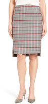 Halogen R) Plaid Pencil Skirt (Petite)