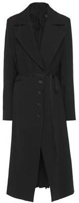 Ann Demeulemeester Belted Wool And Cotton-blend Gabardine Coat
