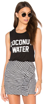 Private Party Coconut Water Tank in Black. - size L (also in M,S)