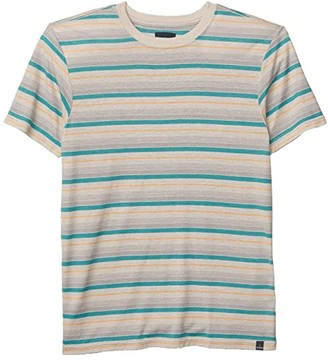 Prana Dustin Short Sleeve Crew (Pebble Grey) Men's T Shirt