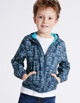 Marks and Spencer All Over Print Hooded Jacket with StormwearTM (3 Months - 5 Years)