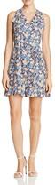 Rebecca Taylor Gigi Floral-Print Silk Dress