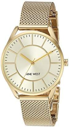 Nine West Women's NW/1922CHGB -Tone Mesh Bracelet Watch
