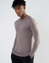 Asos Longline Crew Neck Sweater