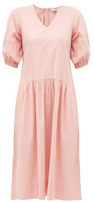 Sea Rumi V-neck Cotton Dress - Womens - Pink