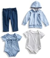 GUESS Bodysuit, Jacket and Pants Set (0-24M)